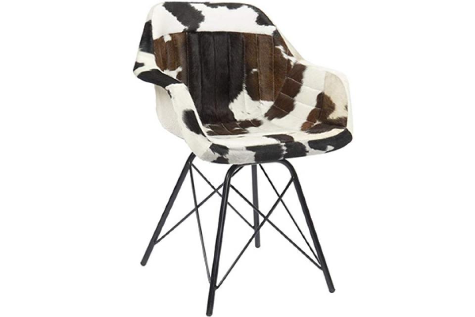 Stolica cow black 60,5x53x81,5