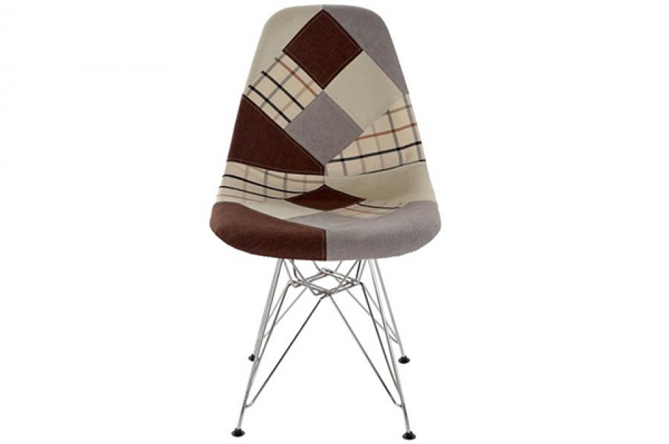 Stolica patchwork braon 47 cm 47x49x84