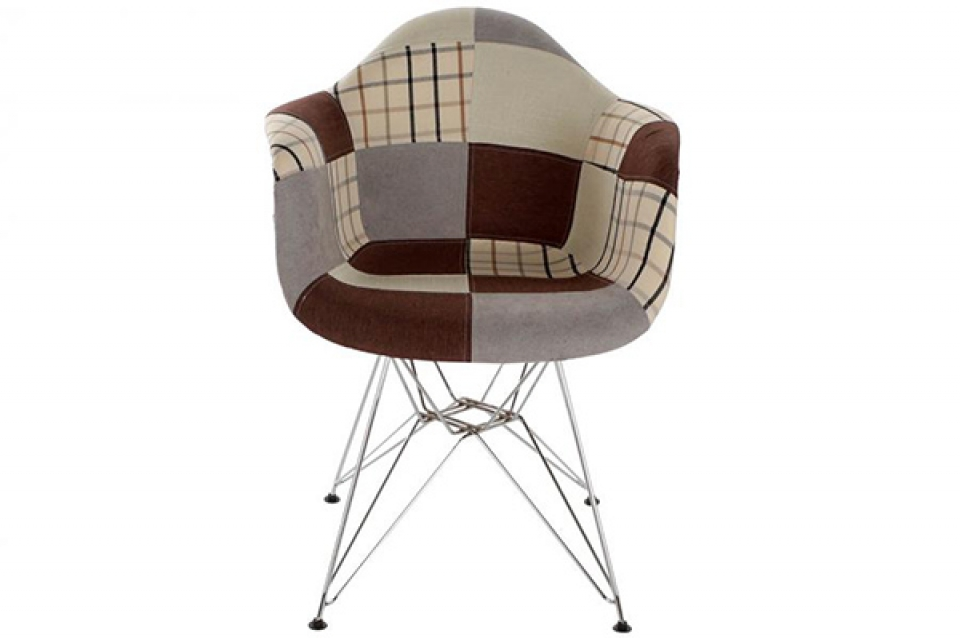 Stolica patchwork grey 63x61x82 46cm