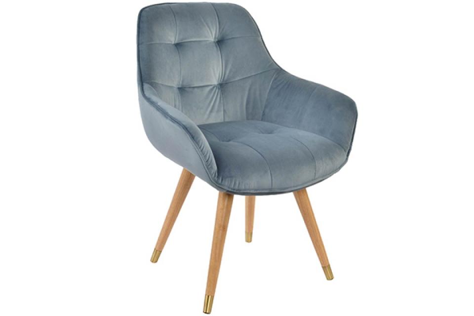 Stolica velvet grey 63x60x82