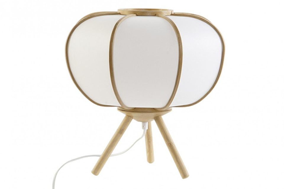Stona lampa bambus 34x34x33