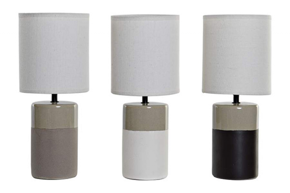 Stona lampa bicolore 18x18x43 3 modela