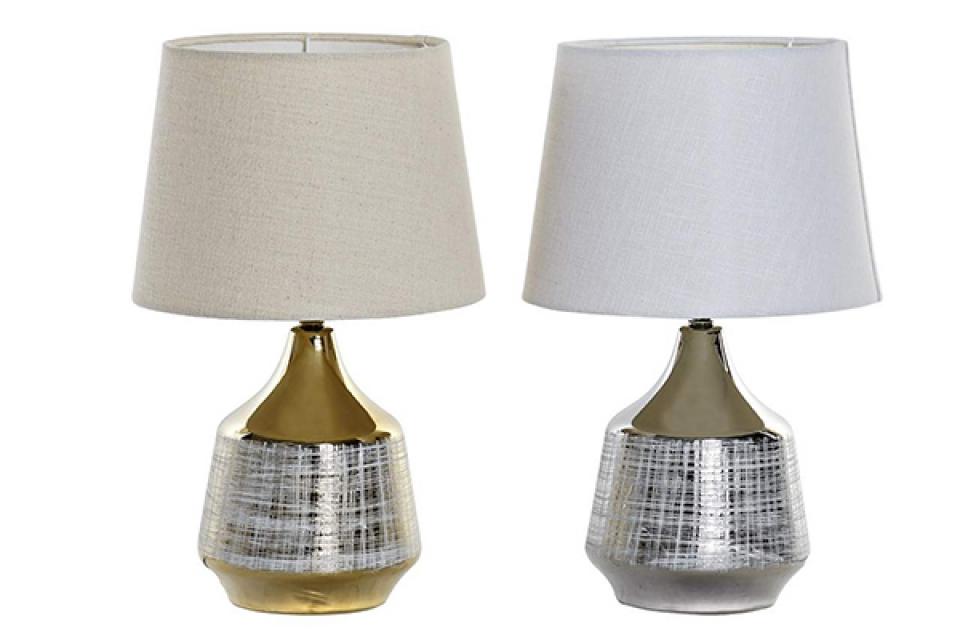 Stona lampa gold & silver 26x26x43 2 modela