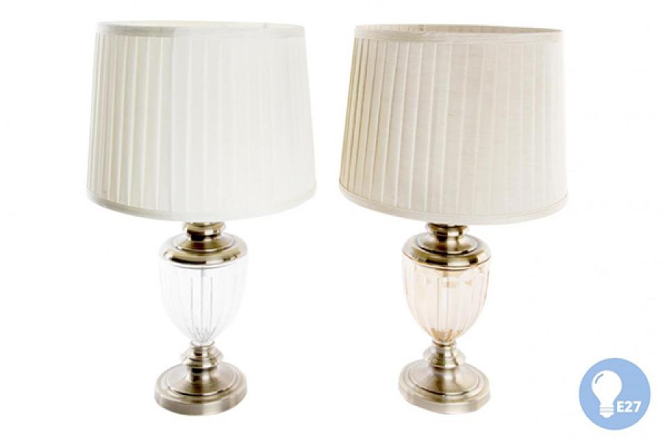 Stona lampa gold transparent 39x60 2 modela