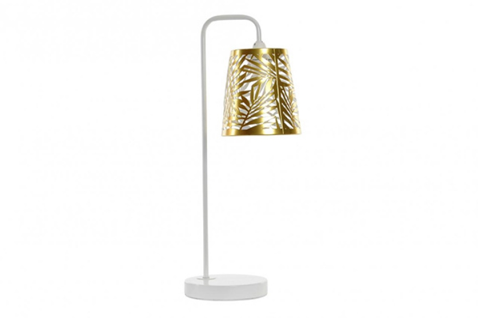 Stona lampa leaves golden 14,5x23x50