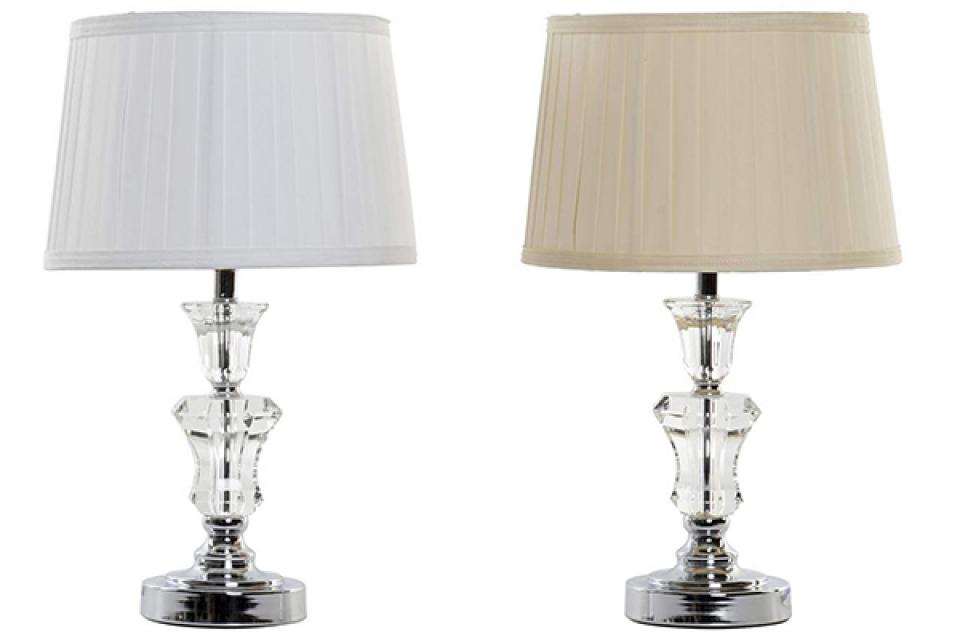 Stona lampa sa plisiranim abažurom iii 30x30x48 2 modela