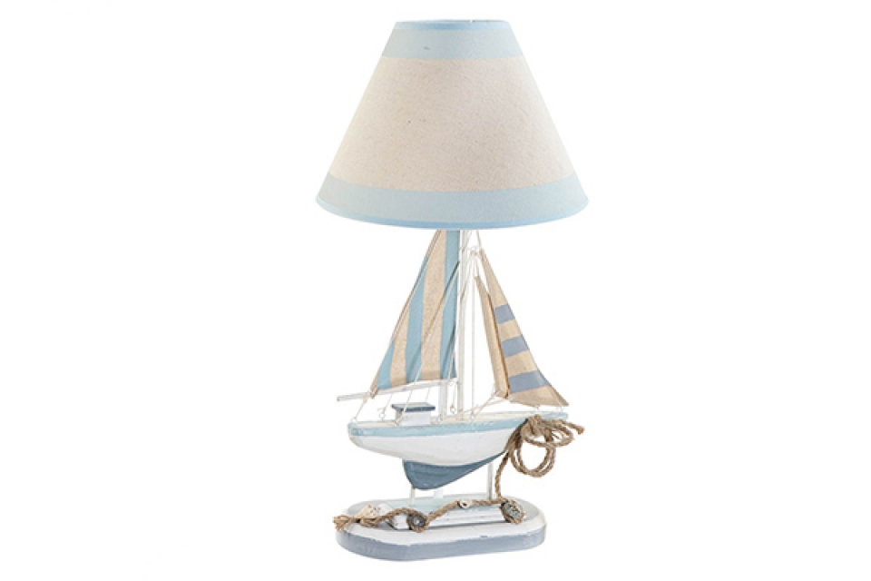 Stona lampa ship blue 25x25x51
