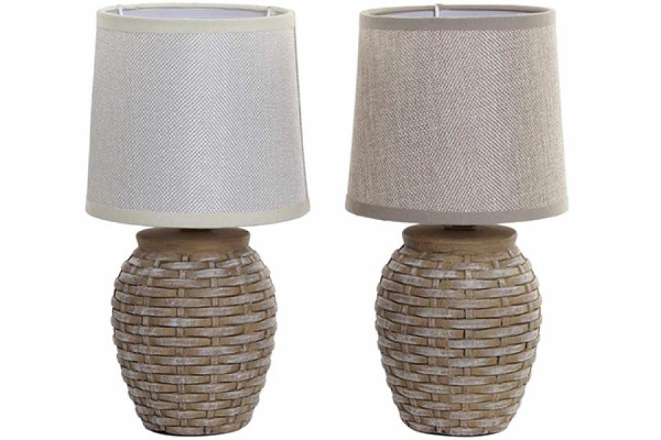Stona lampa stoneware linen 15x15x29 2 modela