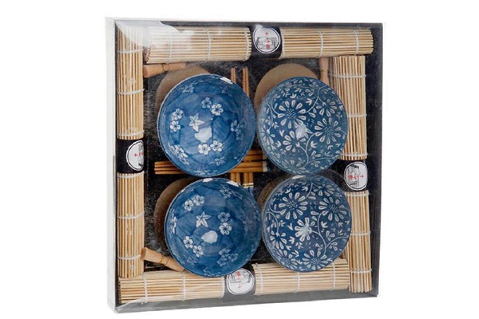 Suši set blue / 20 35x35x5,5