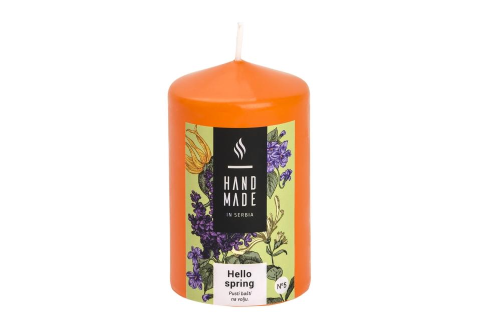Sveca  valjak 6 x 10 -hello spring