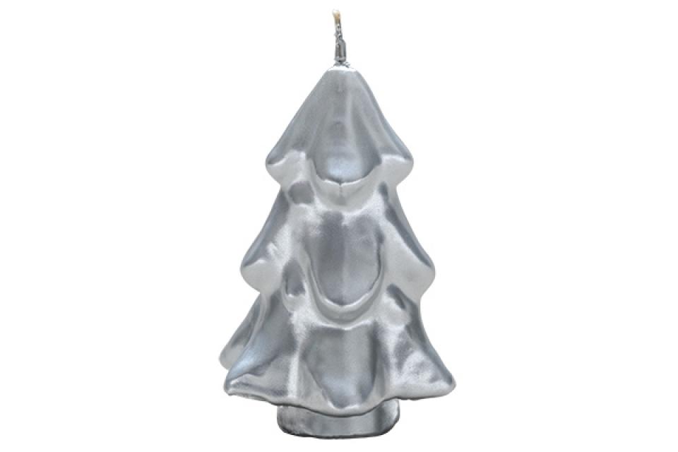 Sveca jelka mala srebrna 5,5 cm
