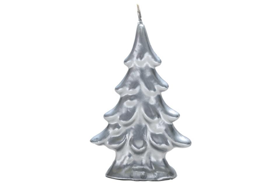 Sveca jelka velika srebrna 9,5 cm