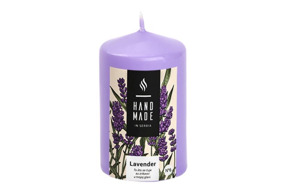Sveca valjak  6 x10 -lavender