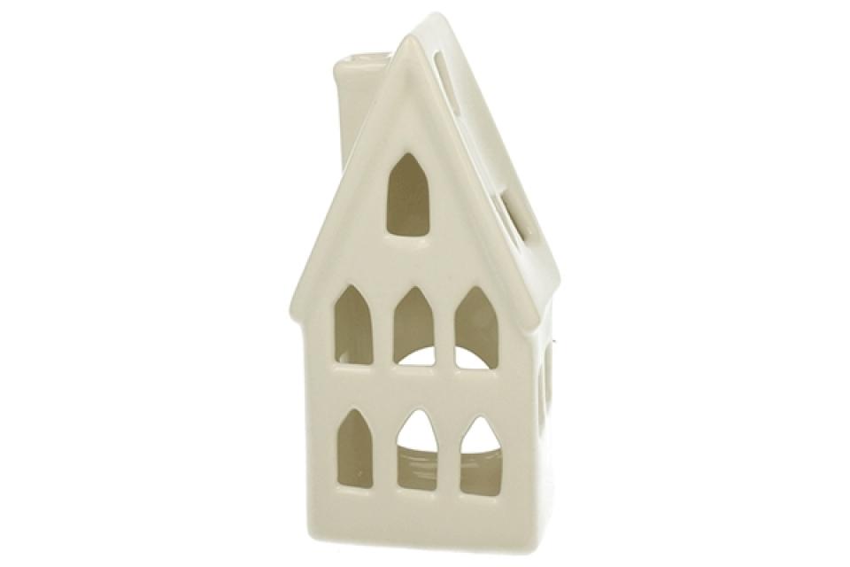 Svećnjak bela kućica 15,5 x 8,5 x 6 cm