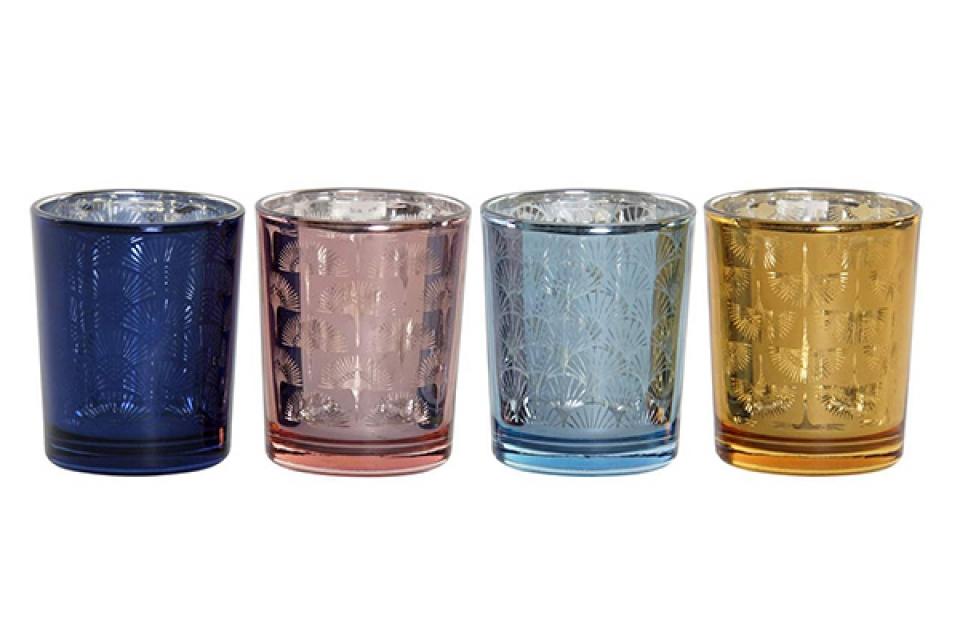 Svećnjak čaša 5,5x5,5x6,5 4 modela