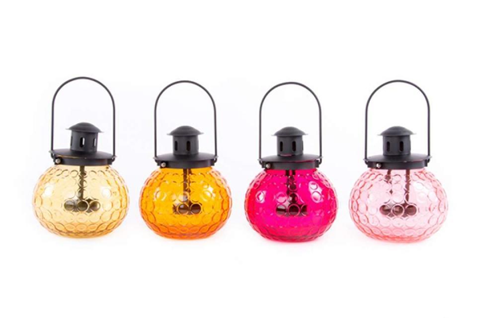 Svećnjak fenjer u boji 15x25 4 boje