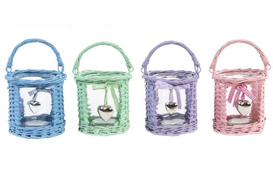 Svećnjak korpica u boji 13,5x13,5 4 boje