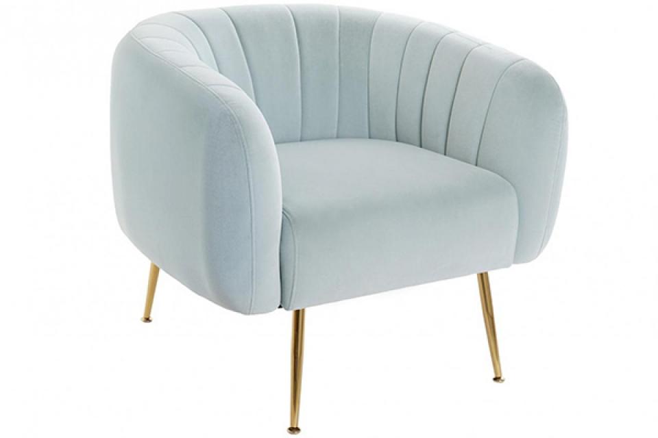 Svetlo plava fotelja 81x75x73