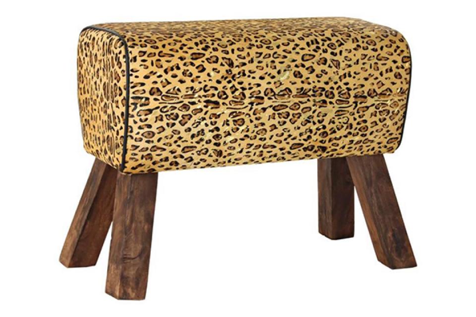 Tabure leopard 71x30x50