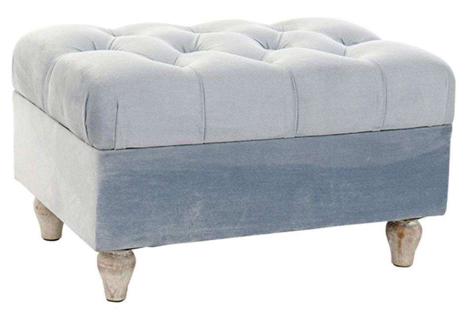 Tabure velvet blue 50x33x29,5