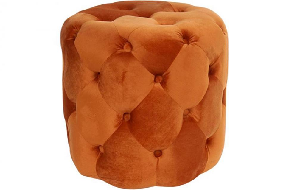 Tabure velvet orange 42x42x42