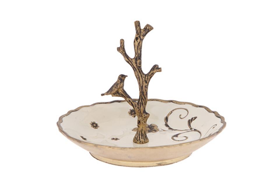 Tacna za nakit sa granama i ptičicom