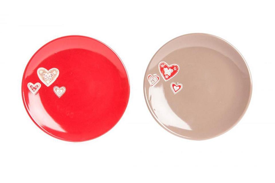 Tanjir srce keramika 27cm