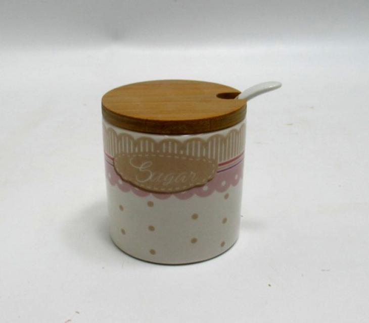 Tegla za šećer belo roze 7x7x7,5