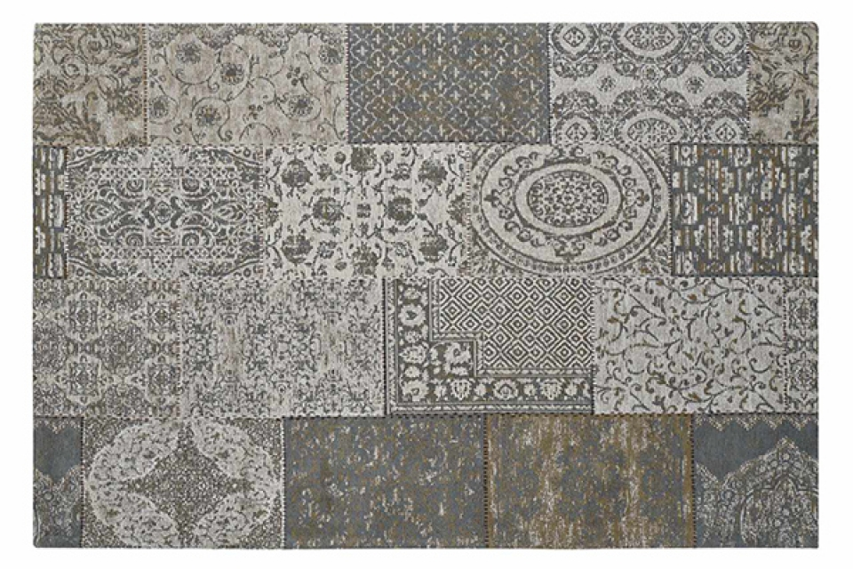 Tepih patchwork grey 162x242x1