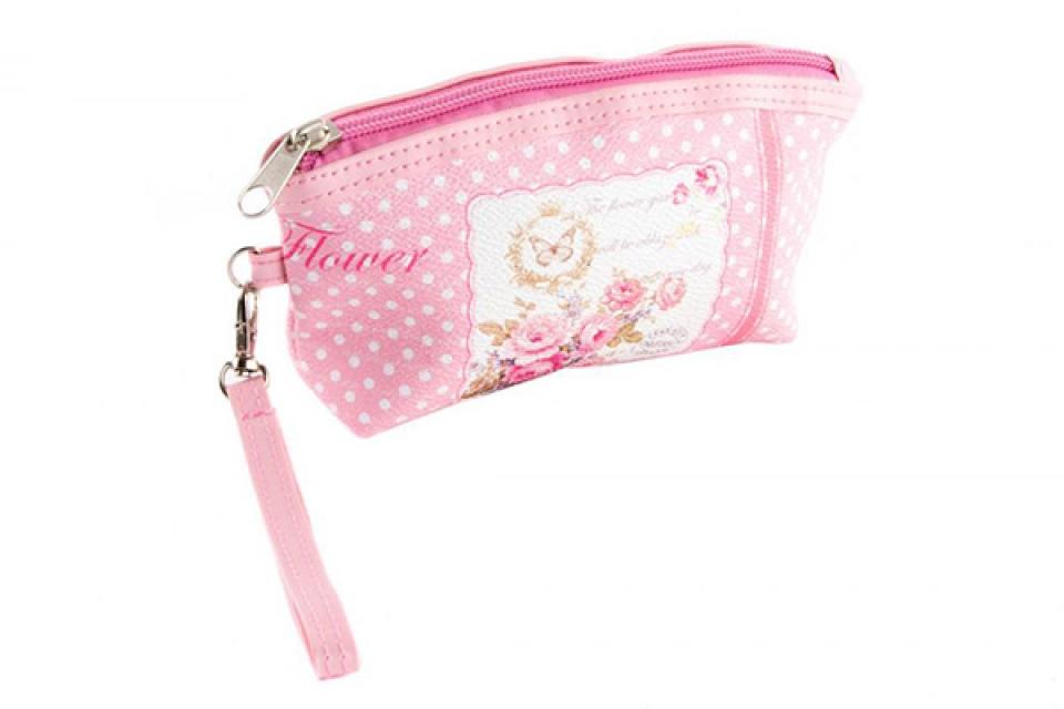 Toaletna torbica roze 17x4x9