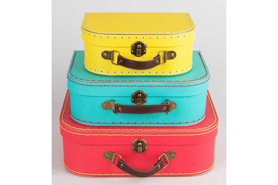 Koferčići set od 3 crvena, plava i zuta
