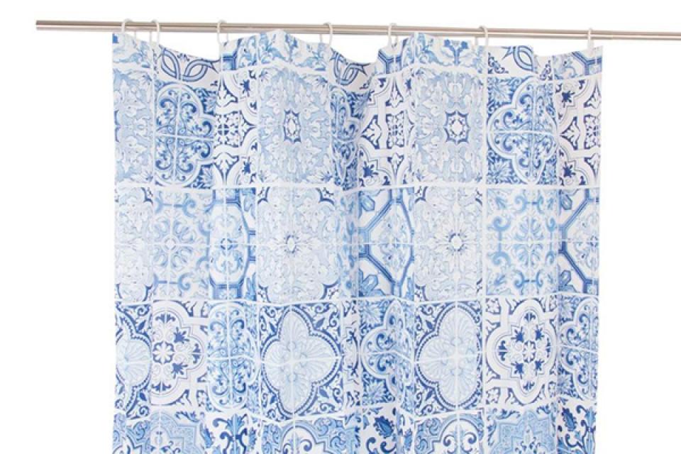 Tuš zavesa plava 180x180 80gr