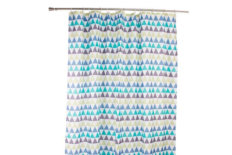 Tuš zavesa trouglovi 180x200