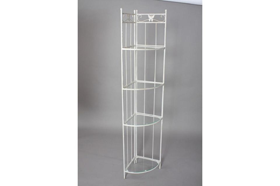 Ugaona polica metal/taklo leptir 32x32x170