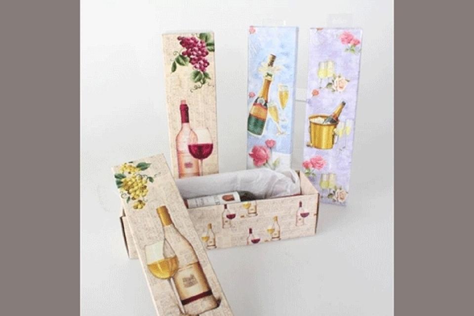 Ukrasna kutija za vino 10x10x35 4 modela