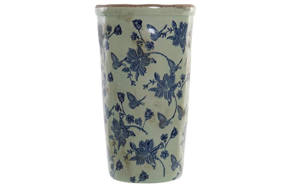 Vaza butterfly blue ii 13x13x24