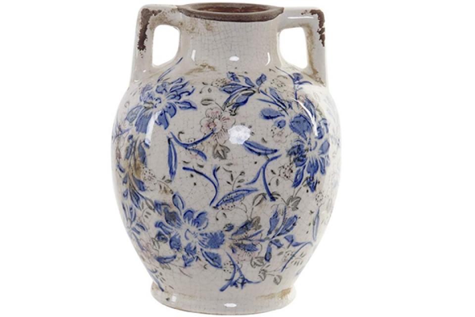 Vaza floral white 17x17x22