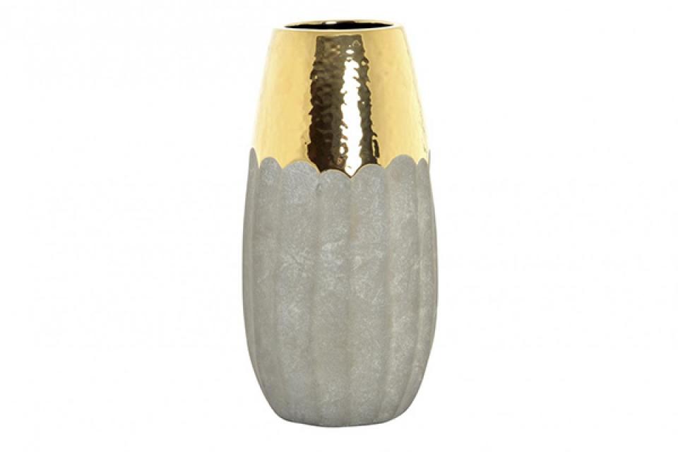 Vaza golden gris 12x12x33,5