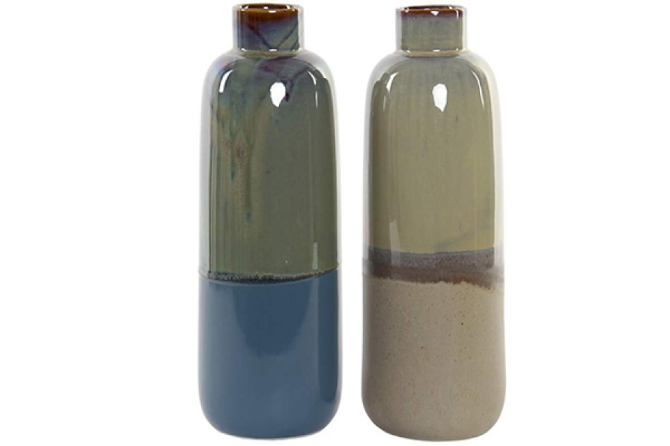 Vaza porcelan zeleno plava 12x12x35 2 modela