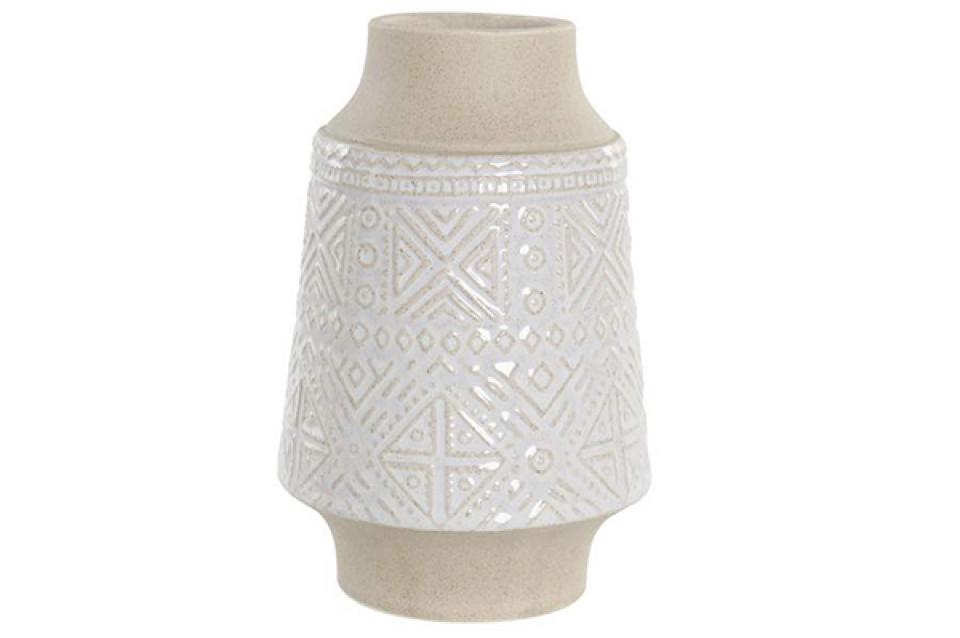 Vaza relief white 12,5x12,5x19,5
