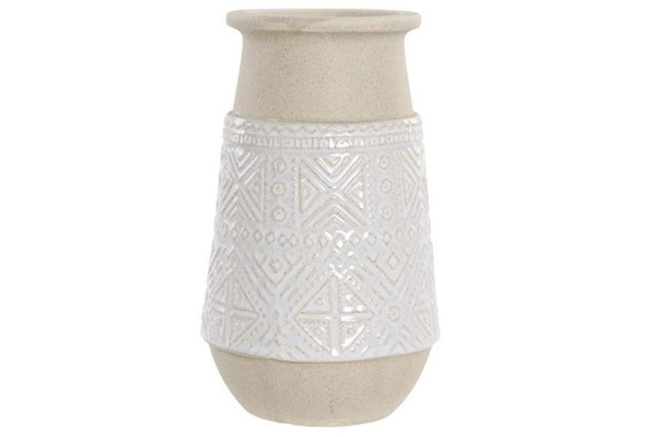 Vaza relief white 12,5x12,5x21,5