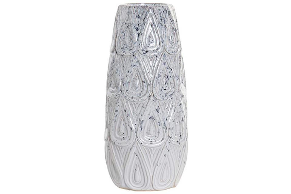 Vaza relief white 18x18x40