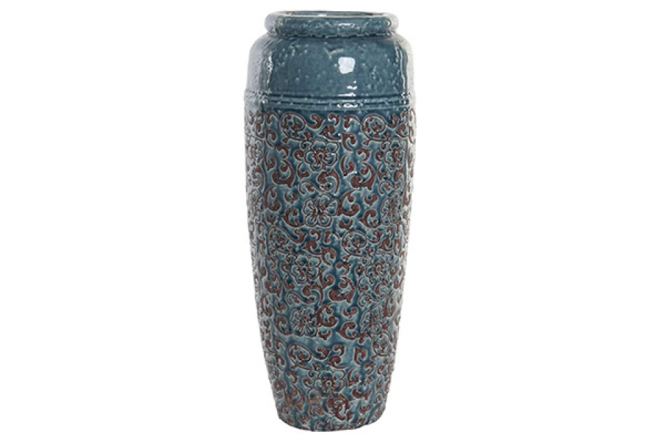 Vaza terracotta blue 23x57,5