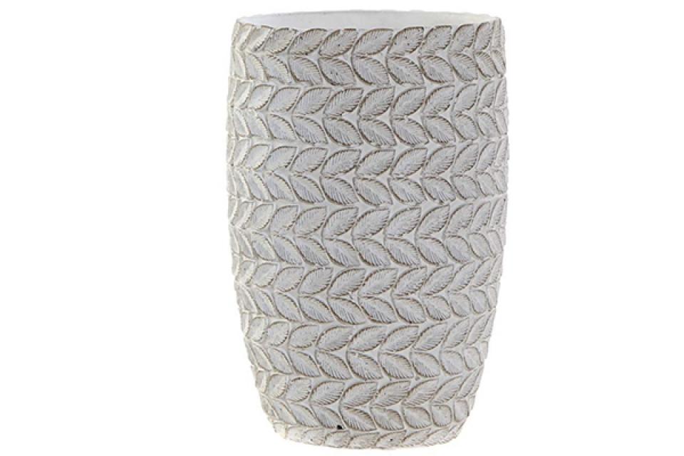 Vaza white / cement 14x14x22