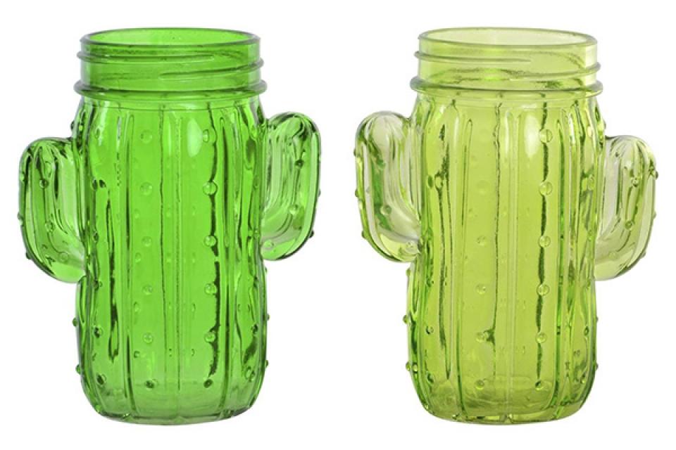 Vaza zeleni kaktus 11x7x13,5 2 modela
