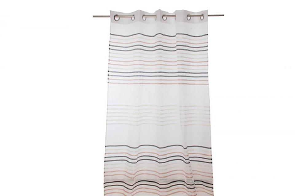 Zavesa bela sa linijama
