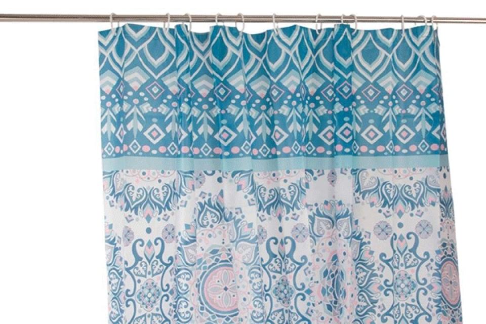 Zavesa za kupatilo plavo roze 180x180