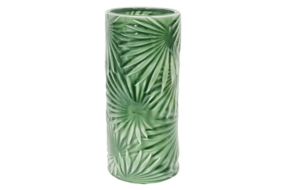 Zelena vaza 11x11x27