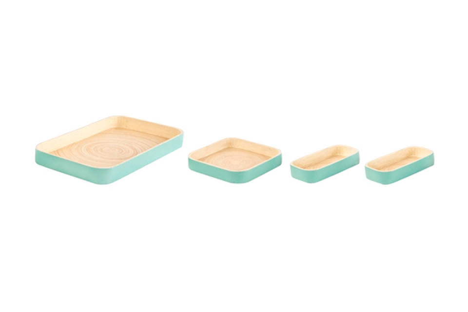Zeleni bambus set/4 38x22x4