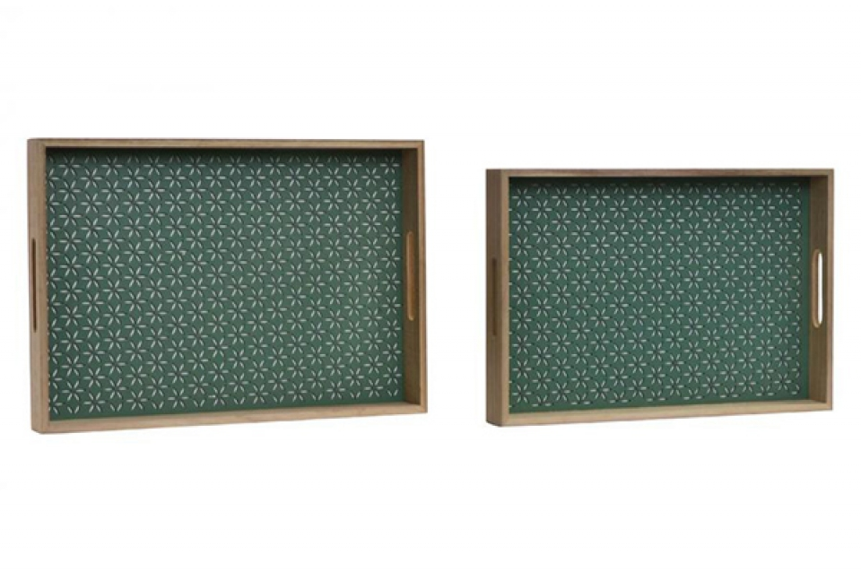 Zeleni poslužavnici set / 2 40x28x4,5